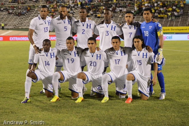 Jamaica draws 2-2 against Honduras in World Cup qualifying in Kingston on October 15 2013.