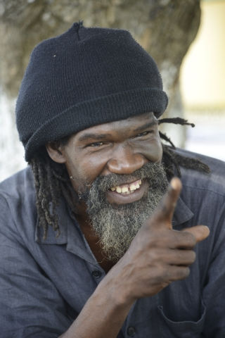 "Derrick (Black X) Robinson, a dub-poet and advocate to make Jamaican freedom fighter ""Tacky"" a national hero at Port Maria, Jamaica on November 29 2014. Tacky led the 1760 Easter Rebellion against British slave owners which spread to other parishes before it was quelled."