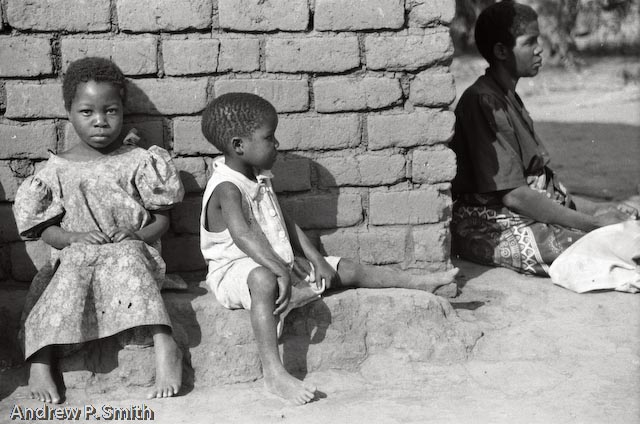 A family in Mulanje Malawi in September 2002 during food shortages that affected southern Africa.