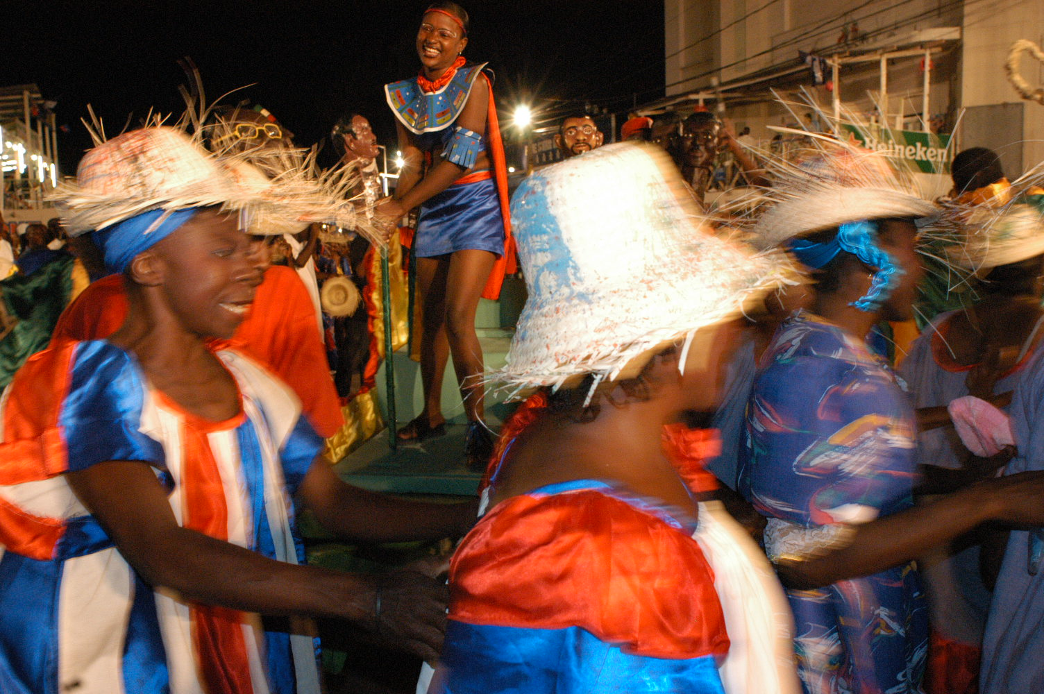 Haitians celebrate carnival on February 23, 2004 in Port-au-Prince as part of the 200th anniversary celebrations of the revolution which freed them from French rule.