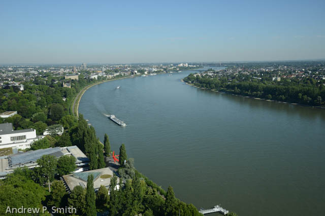 A view of the Rhine River from the UN Campus